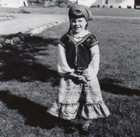 My Gypsy Costume, age 4