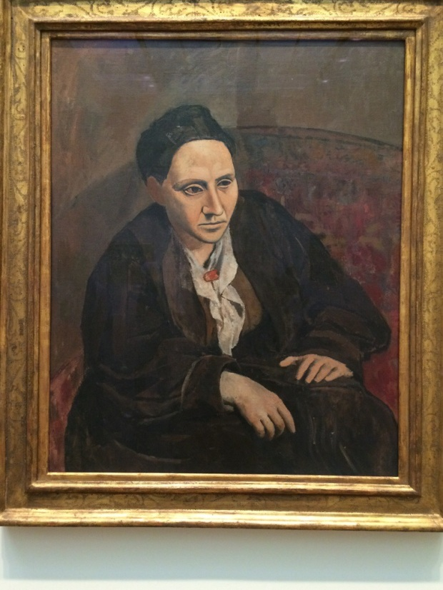 I stumbled on Gertrude Stein by Picasso at the Met. It was bigger than I imagined