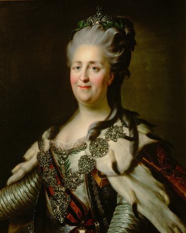 Catherine II by Johann Baptist von Lampi